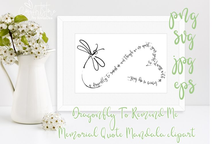 Dragonfly To Remind Me Memorial Quote SVG mandala