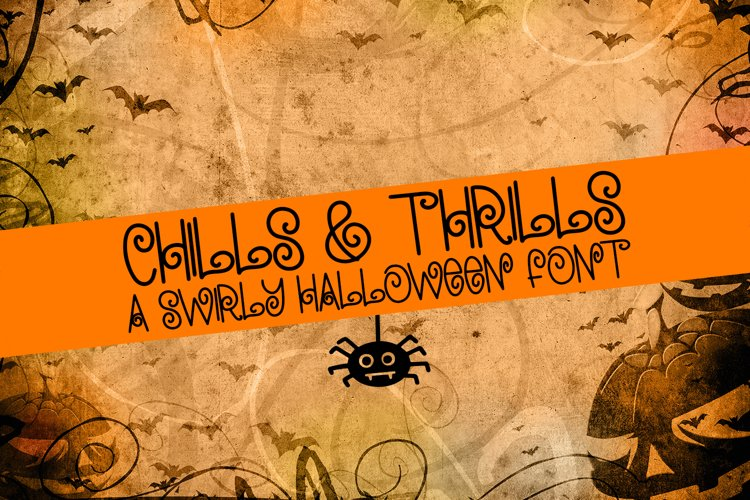 Chills & Thrills - A Swirly Halloween Font example image 1