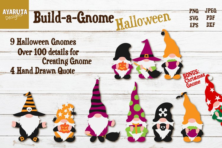 Build-a-Gnome for Halloween Bundle - create your own Gnome example image 1