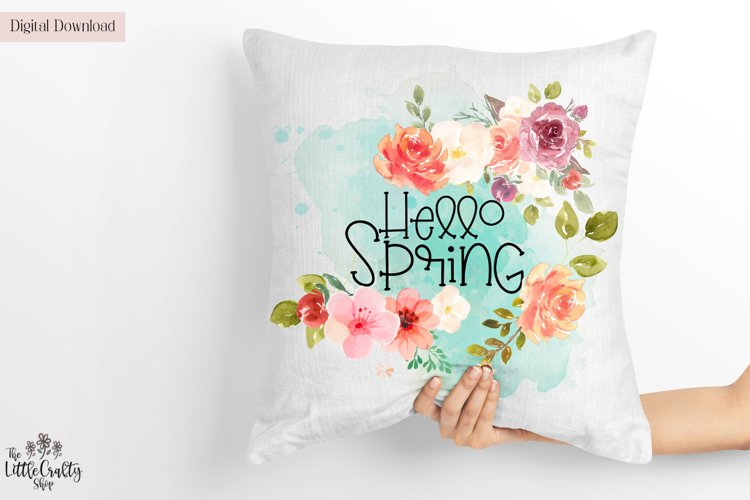 Hello Spring PNG Sublimation Design example image 1