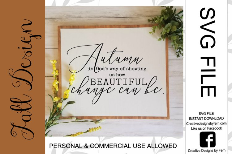 Autumn change can be beautiful SVG FILE example image 1