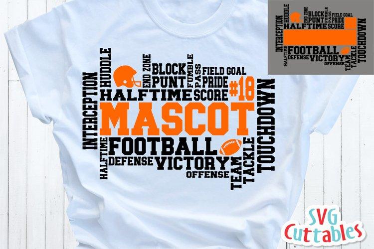 Football SVG Word Art | Shirt Design example image 1