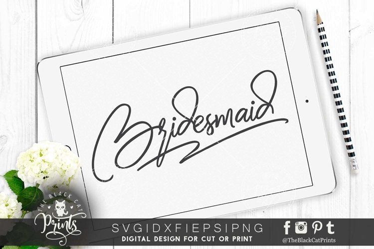 Bridesmaid SVG DXF PNG EPS