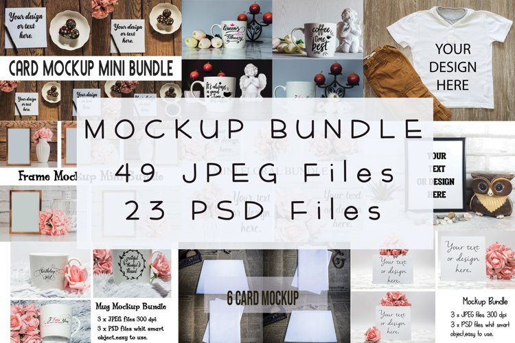 Mockup Bundle JPEG PSD