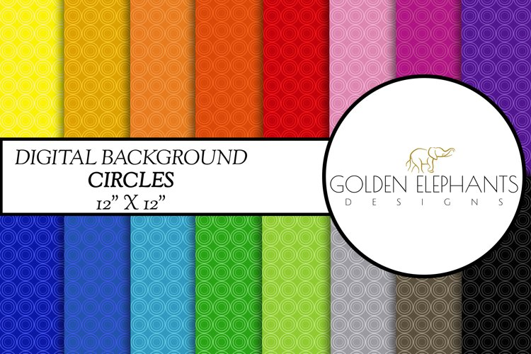 16 Circle Digital Paper, Seamless Scale Patterns example image 1