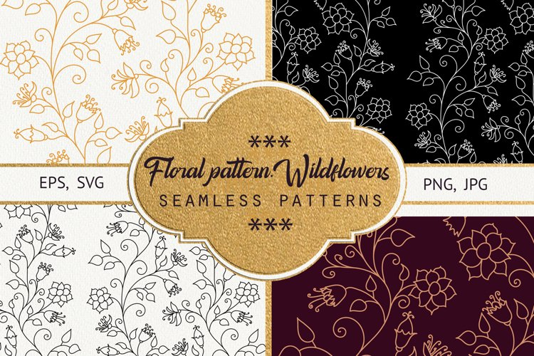 Floral pattern. Wildflowers. example image 1