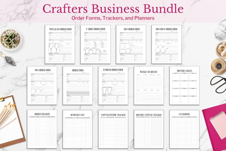 Crafters Business Bundle, Order Forms and Trackers