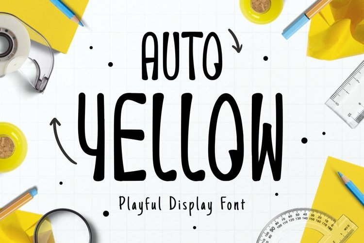 Web Font Auto Yellow Font example image 1