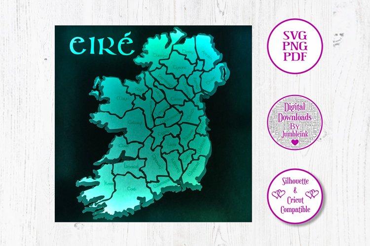 Ireland - 3D Paper Cut Template Light Box example image 1
