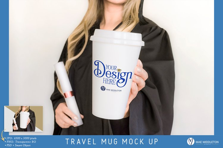 Graduation Travel Mug Mock up | Jpg, Png, Psd