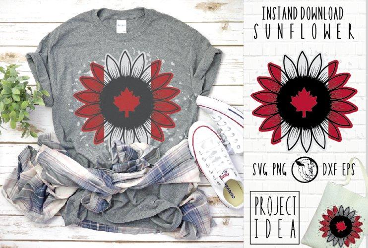 Instant Download|Sunflower|Canada Flag|Canadian SVG