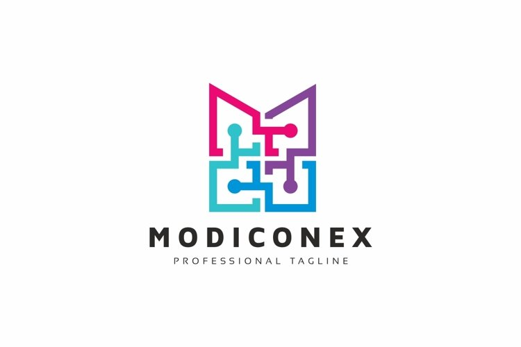 Abstract M letter Logo example image 1