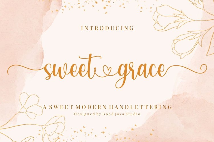 Sweet Grace - with Sweet Swashes example image 1