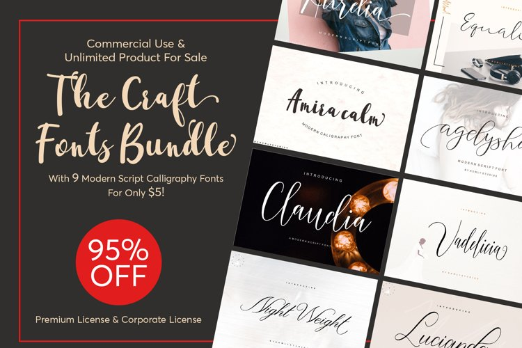 The Craft Fonts Bundles! example image 1