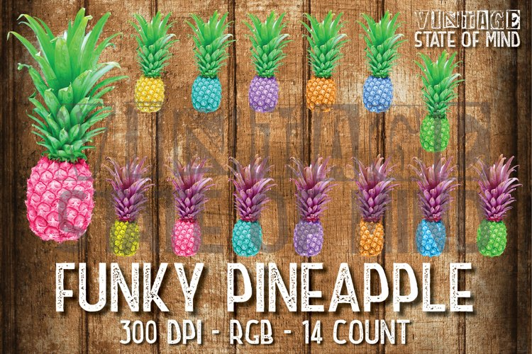 Funky Pineapple Sublimation Graphics