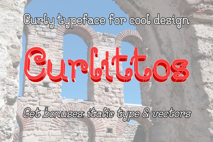 Curlittos Curly Font example image 1