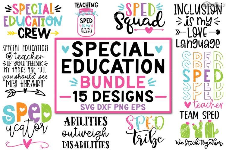 Sped SVG Bundle, Special Education Teacher SVG DXF PNG Files