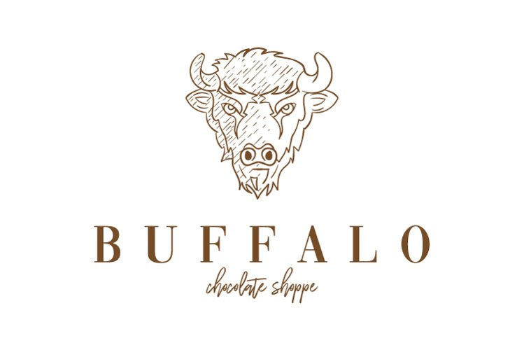 Vector of a buffalo head design on white background example image 1