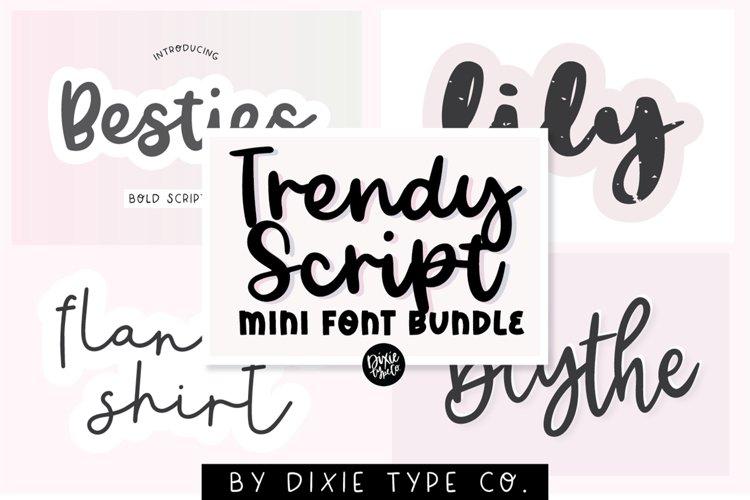 MINI FONT BUNDLE - Trendy Script Fonts