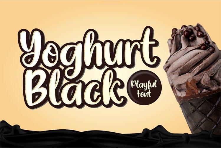 Yoghurt Black example image 1