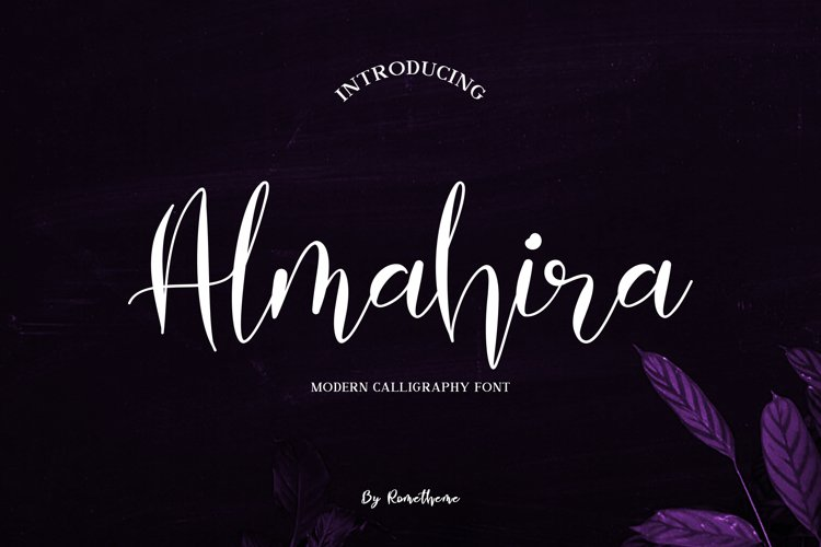 Almahira Script Font example image 1