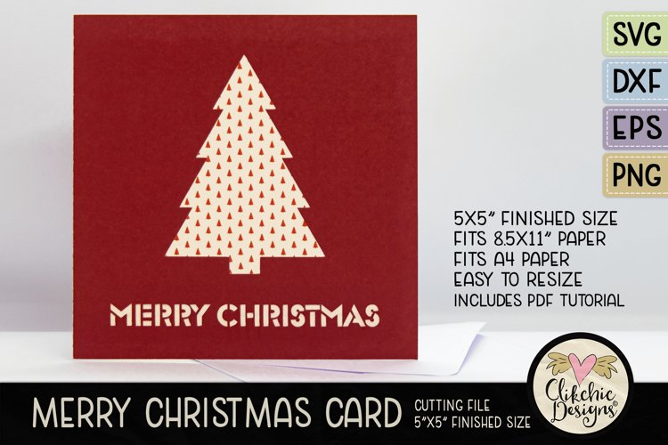 Merry Christmas Card SVG - Christmas Card Cutting File