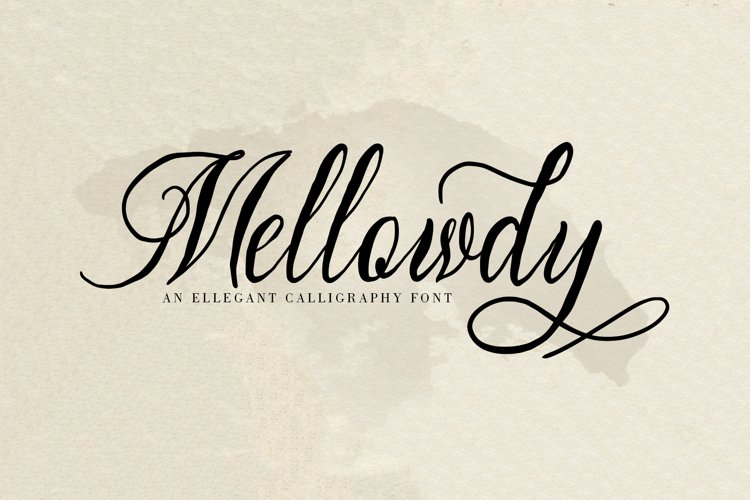 Mellowdy | A Calligraphy Script Font example image 1