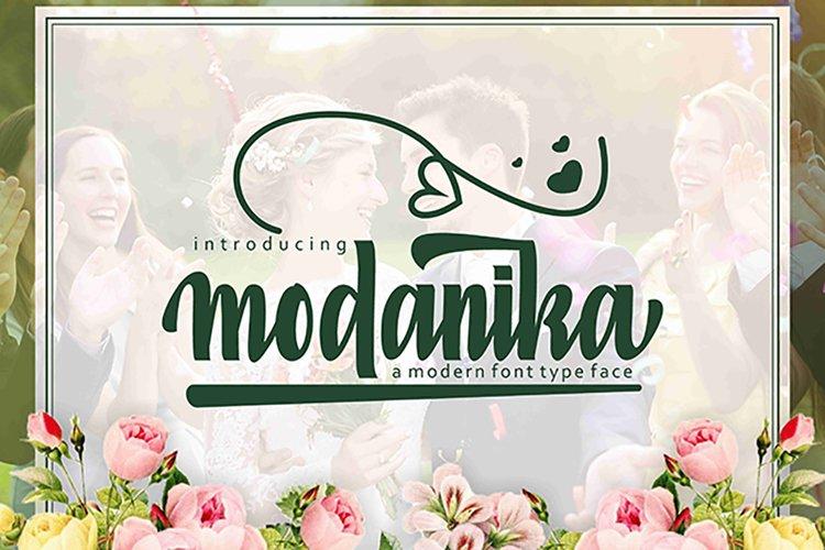 Web Font Modanika example image 1
