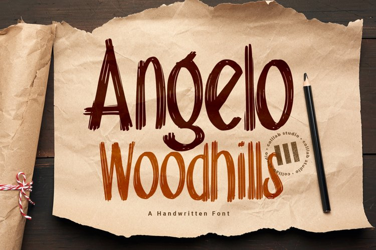 Angelo Woodhills - Handwritten Font example image 1