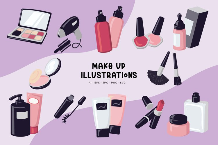 Make Up Illustrations example image 1