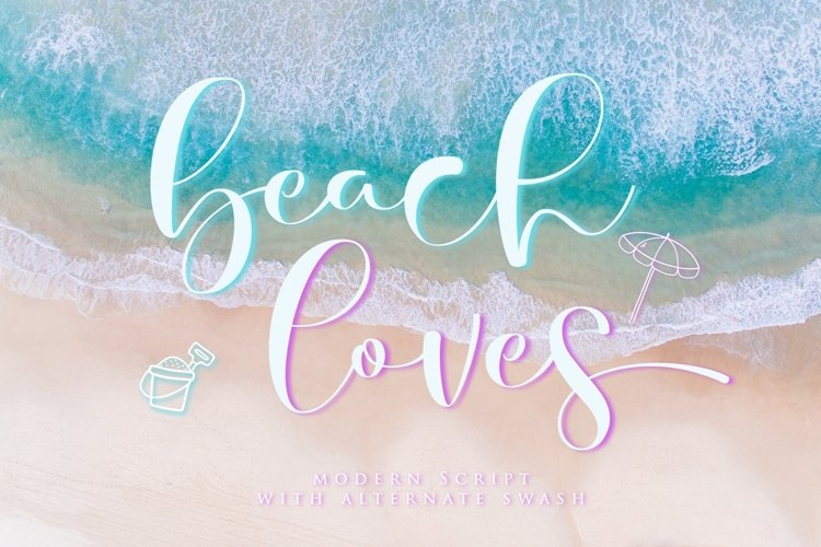 beach loves - Script Fonts example image 1