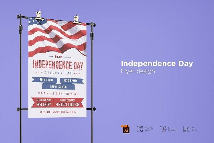 Independence day flyer design