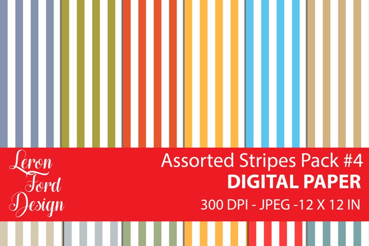 Assorted Stripes Pack #4 Digital Paper example image 1