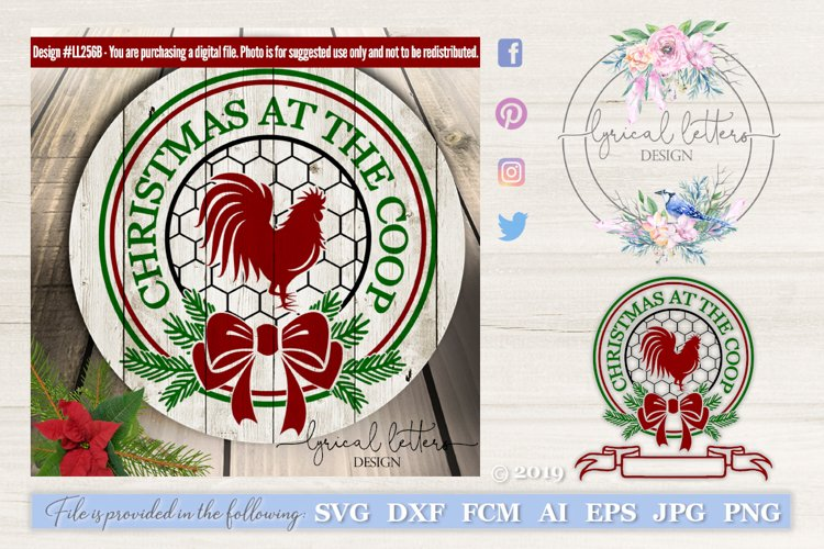 Farmhouse Christmas at the Coop SVG DXF LL256B