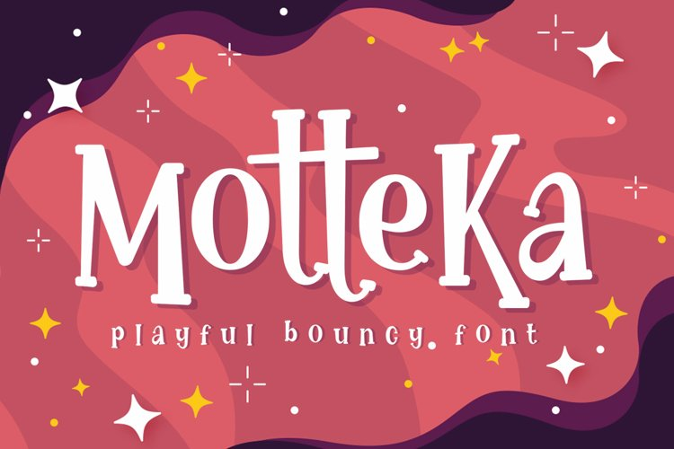 Motteka a Playful Bouncy Font example image 1