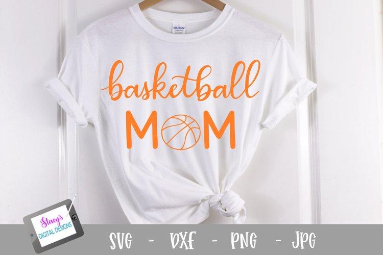 Basketball mom SVG - Sports mom SVG file, handlettered example image 1
