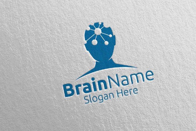 Human Brain Logo Design 17 example image 1
