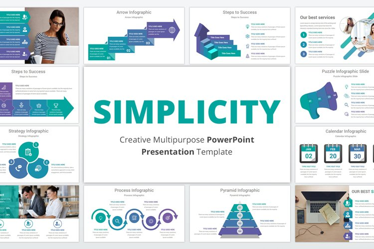 Simplicity multipurpose PowerPoint Presentation Template example image 1