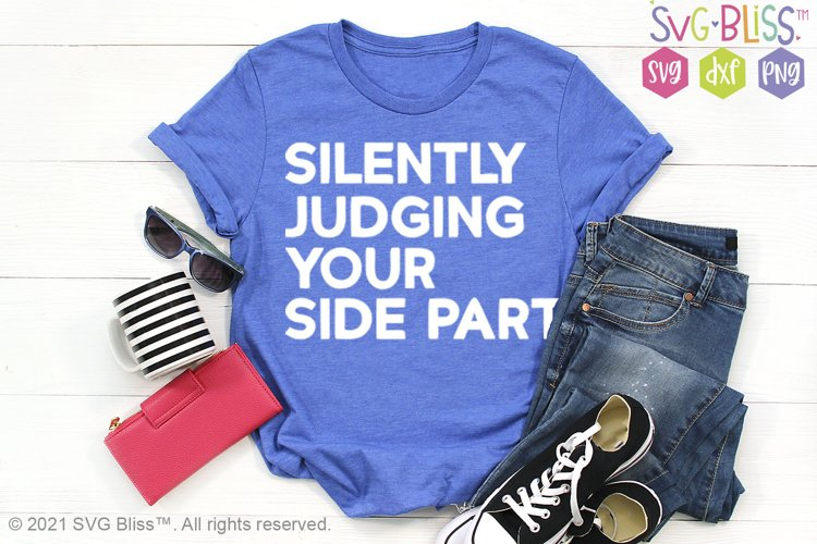 Silently Judging Your Side Part SVG example image 1