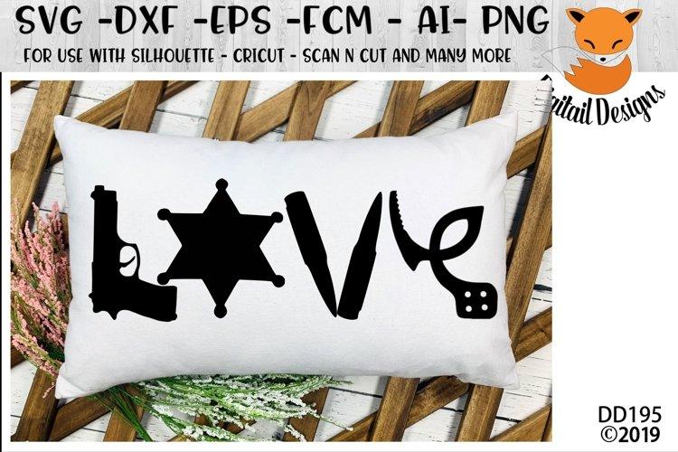Police Sheriff Deputy Love SVG example image 1