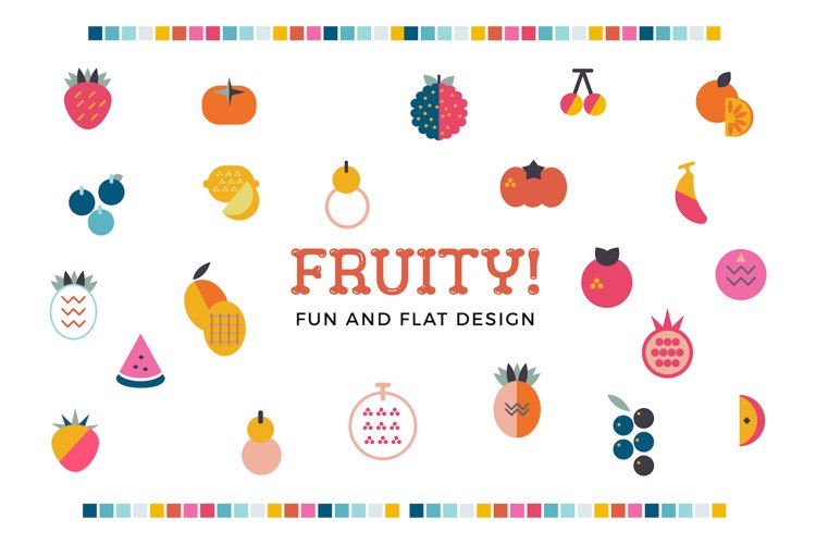 Fruity! Fun and flat fruits example image 1