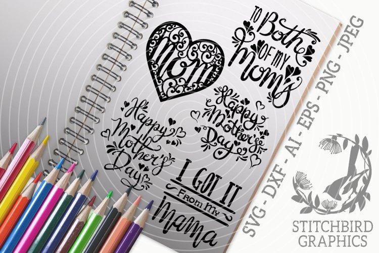 Mother Day Quotes Bundle SVG, Silhouette Studio, Cricut, Eps