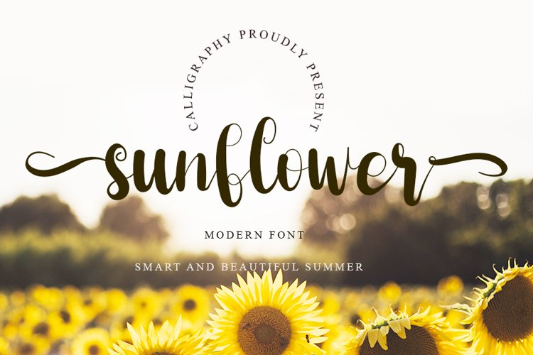Sunflower - Modern Calligraphy Font example image 1