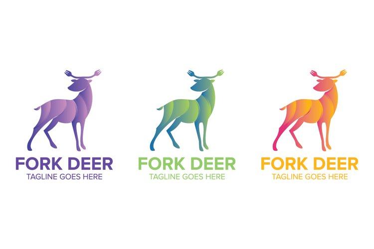 Deer Colorfull Logo Design Vector