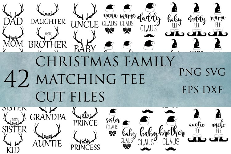 Christmas Family Matching Tee Budle, SVG cut files