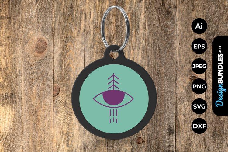 Simple Eye Keychain