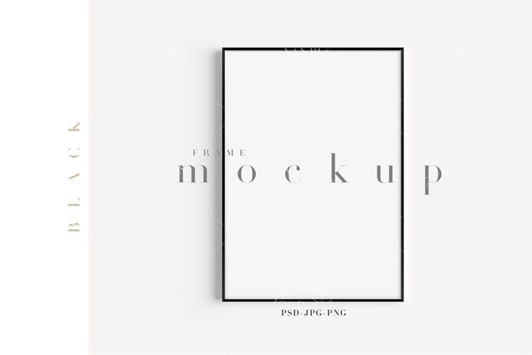 A4 Black Frame Modern Mockup/ JPG PNG PSD Smart Object/M109