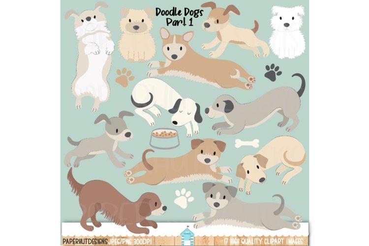 Doodle Dog Clipart|Dog Illustrations