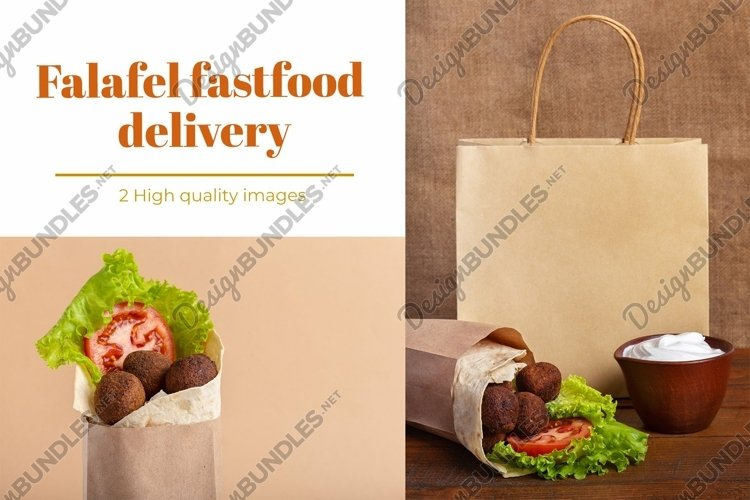 Falafel fastfood bundle with copy space