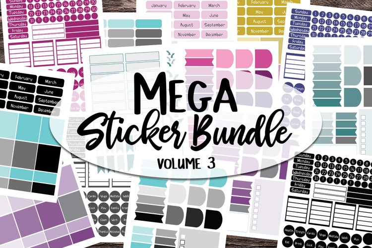 Sticker Bundle #3 - Mega Printable sticker bundle